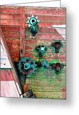 Rusted Valves Greeting Card