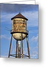 Rusted Water Tower Greeting Card