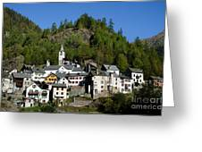 Rustic Alpine Village Greeting Card