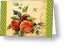 Rustic Apples On Moroccan Greeting Card