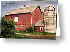 Rustic Barn Greeting Card by Bill Wakeley