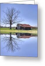 Rustic Barn Greeting Card by David Troxel