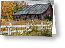 Rustic Berkshire Barn Greeting Card