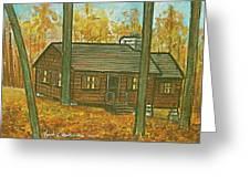 Rustic Cabin At Lake Hope Ohio Greeting Card