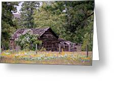 Rustic Cabin In The Mountains Greeting Card