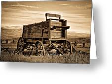Rustic Covered Wagon Greeting Card