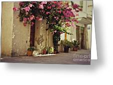 Rustic Greek Townhouse Greeting Card
