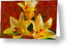 Rustic Lilies 2 Greeting Card