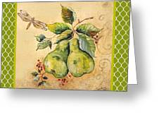 Rustic Pears On Moroccan Greeting Card