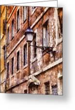Rustic Rome Apartments Greeting Card