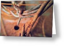 Rustic Rust Greeting Card