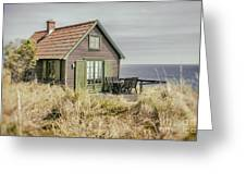 Rustic Seaside Cottage Greeting Card