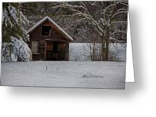 Rustic Shack After The Storm Greeting Card