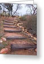 Rustic Stairway Greeting Card