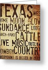 Rustic Texas Art Greeting Card