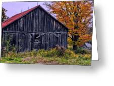 Rustic Vermont Barn Greeting Card