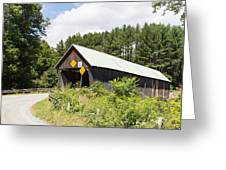 Rustic Vermont Covered Bridge Greeting Card