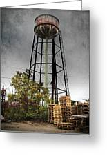 Rustic Water Tower Greeting Card