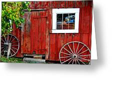Rustic Window Pane Greeting Card