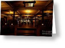 Rustic Wine Cellar Greeting Card