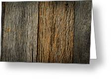 Rustic Wood Background Greeting Card