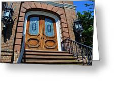 Rustic Wood Charleston Door Greeting Card