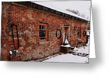 Rustic Workshop In Winter Greeting Card