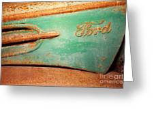 Rusting Ford Greeting Card