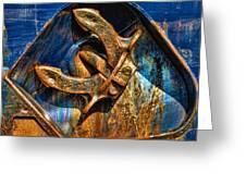 Rusty Anchor Greeting Card
