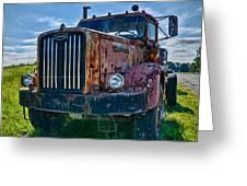 Rusty Autocar Greeting Card