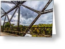 Rusty Bridge In Fall Greeting Card
