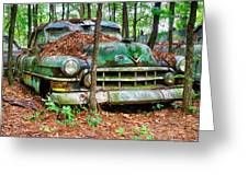 Rusty Caddy 4 Greeting Card