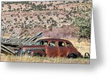 Rusty Chevrolet Special Deluxe In Manila Utah Greeting Card