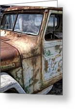 Rusty Classic Willy's Jeep Pickup Greeting Card