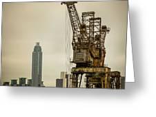 Rusty Cranes At Battersea Power Station Greeting Card