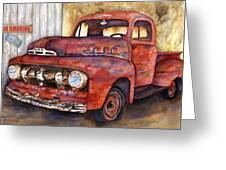 Rusty Crusty Ford Truck Greeting Card