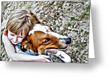 Rusty Dog Love Greeting Card