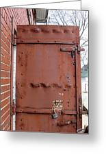 Rusty Door 1 Greeting Card