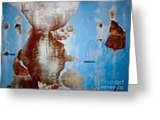 Rusty Door Abstract Greeting Card