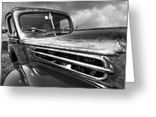Rusty Ford 1942 Black And White Greeting Card