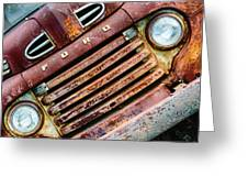 Rusty Ford Grill Greeting Card