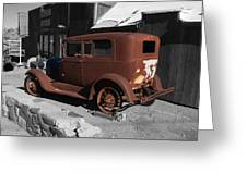 Rusty Ford Greeting Card