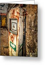 Rusty Gas Pump Greeting Card