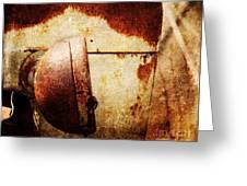Rusty Headlamp Greeting Card
