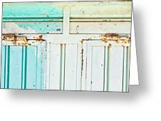 Rusty Hinges Greeting Card