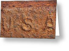 Rusty Letters Usa Greeting Card