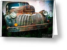 Rusty Old Chevy Pickup Greeting Card