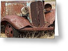 Rusty Old Chevy Greeting Card