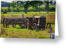 Rusty Old Mccormick Deering Tractor Greeting Card