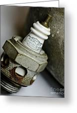 Rusty Old Spark Plug  5  Greeting Card by Wilma  Birdwell